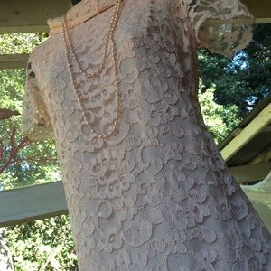💕Vintage 1960 Pink Lace Overlay Chemise Shift